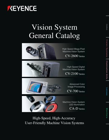 Vision System General Catalog - Cincinnati Automation