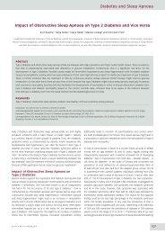 Diabetes and Sleep Apnoea - Touch Endocrinology