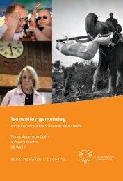 Tsunamins genomslag : en studie av svenska mediers bevakning