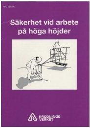 Säkerhet vid arbete på höga höjder