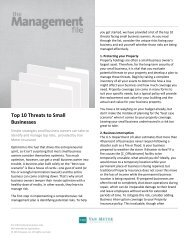 Top 10 Threats to Small Businesses - Van Meter Insurance Group