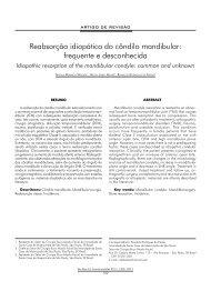 Reabsorção idiopática do côndilo mandibular: frequente ... - ABCCMF