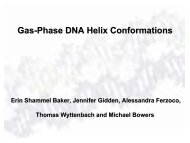 Gas-Phase DNA Helix Conformations - The Bowers Group