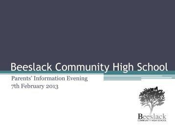 here - the Beeslack Community High School website