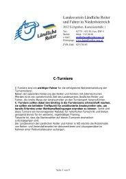 Diskussion C-Turniere 2007 (PDF) - Ländliche Reiter und Fahrer in ...