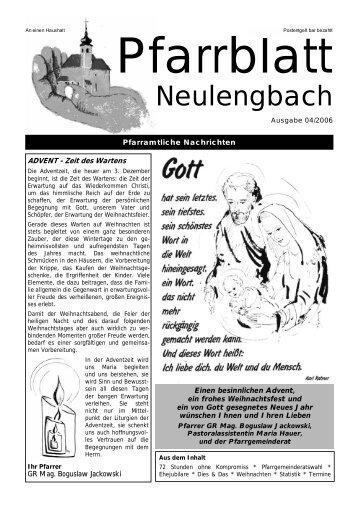 0,23 MB PDF in neuem Fenster öffnen - Pfarre Neulengbach