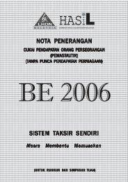 Nota Penerangan BE 2006 - Lembaga Hasil Dalam Negeri