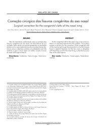 Correção cirúrgica das fissuras congênitas da asa nasal - ABCCMF