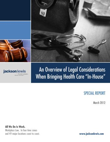 An Overview of Legal Considerations When ... - Jackson Lewis
