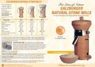 SALZBURGER NATURAL STONE MILLS - Flour / Power / Mills