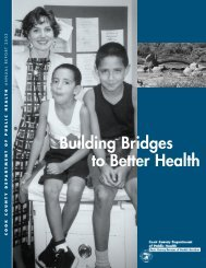 Building Bridges to Better Health - Cook County Department of ...