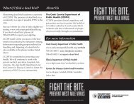 West Nile Virus Brochure - Cook County Department of Public Health