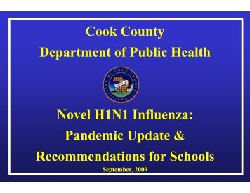 In Schools - Cook County Department of Public Health