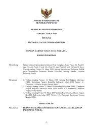 Peraturan Komisi Informasi No. 1 Tahun 2010 - Situs Publikasi ...