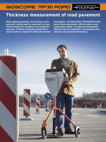 Thickness measurement of road pavement - Fischer Technology, Inc.
