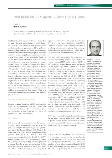 Novel Insights into the Management of Growth Hormone Deficiency