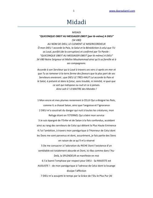 khassida midadi pdf