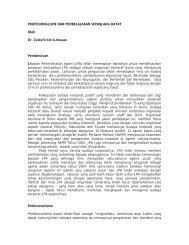 profesionalisme dan pembelajaran sepanjang hayat - JPA
