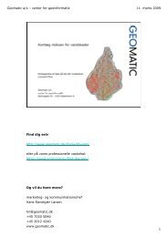 Anvendelse af højdedata i forsikringssammenhæng - GeoForum Danmark