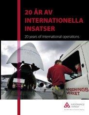 20 år av internationella insatser - Myndigheten för samhällsskydd ...