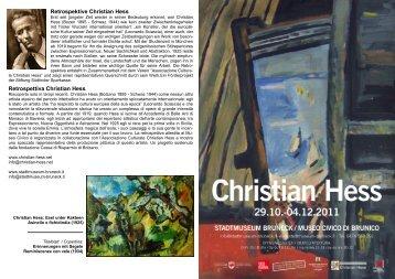 Retrospektive Christian Hess Retrospettiva Christian Hess