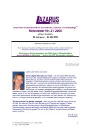 Newsletter Lazarus Nr. 21 - Nurse-Communication