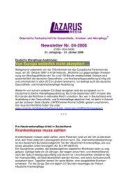 Newsletter Nr. 04-2006 - Nurse-Communication