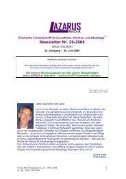 Newsletter Lazarus Nr. 26 - Nurse-Communication