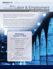 Minneapolis Half-Day Program Brochure (October ... - Jackson Lewis