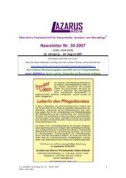 Newsletter Nr. 30-2007 - Nurse-Communication
