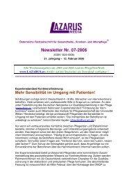 Newsletter Nr. 07-2006 - Nurse-Communication