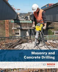 Masonry and Concrete Drilling - Bosch Power Tools