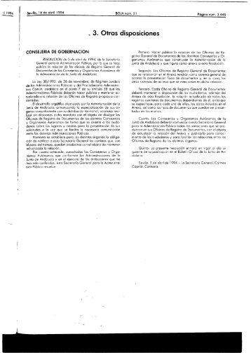 - 3. Otras disposiciones - Cámara de Cuentas de Andalucía