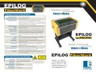 Epilog FiberMark Tech Specs