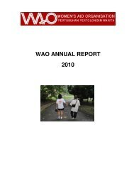 WAO ANNUAL REPORT 2010 - Women's Aid Organisation