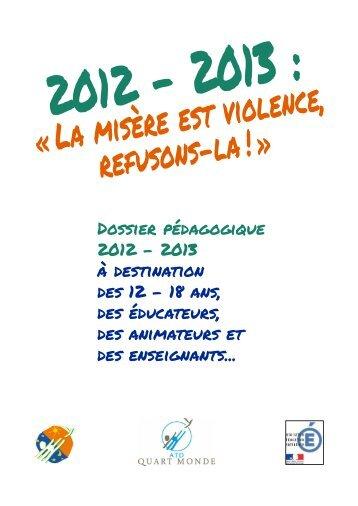 Dossier pédagogique - ATD Quart Monde France