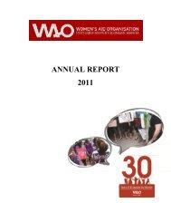 WAO Annual Report 2011 - Women's Aid Organisation