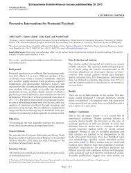 Preventive Interventions for Postnatal Psychosis - ResearchGate