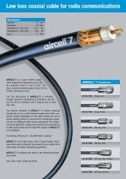 Low loss coaxial cable for radio communications - BPG ...