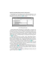 Statistica mintapélda dokumentumok ... - Szövegbányászat
