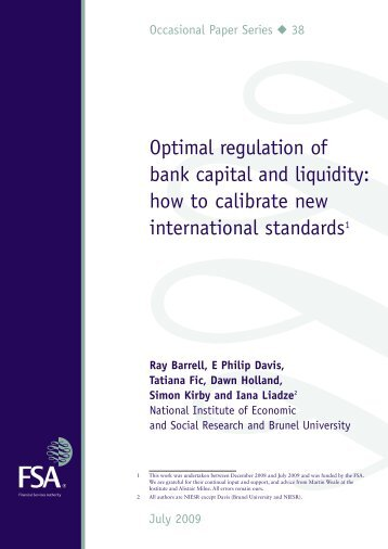 Optimal regulation of bank capital and liquidity: how ... - ResearchGate