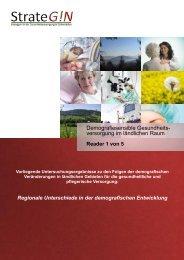 Regionale Unterschiede in der demografischen Entwicklung