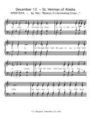 "St. Herman Aposticha Tone 5 ""Rejoice, O Life ... - Anaphora Press"