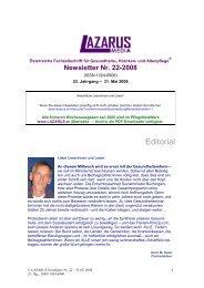 Newsletter Nr. 22 - Nurse-Communication