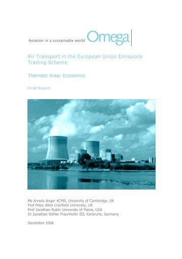 Final Report - Centre for Aviation Transport and the Environment