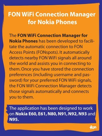 FON WiFi Connection Manager for Nokia Phones Inst