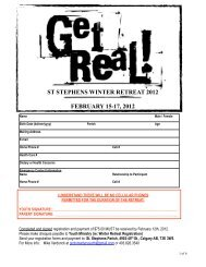 Get Real Registration Form 2012 PDF - Youth Ministry
