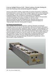 InnoLas Spitlight Passive SLM – Starke Leistung ... - InnoLas Laser