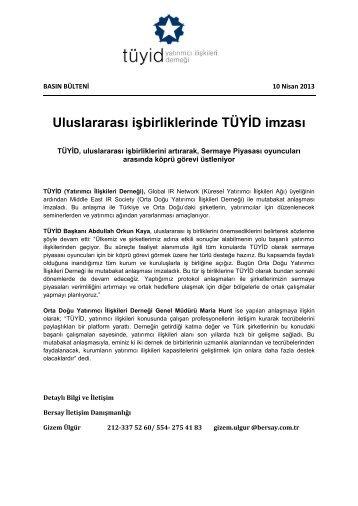 Uluslararası işbirliklerinde TÜYİD imzası - TÜYİD - Yatırımcı İlişkileri ...