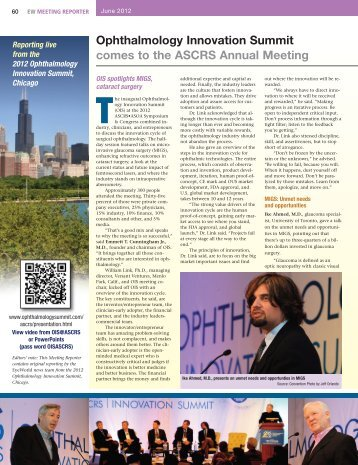 Eyeworld | June, 2012 | OIS @ ASCRS - Ophthalmology Innovation ...